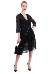 RRP €200 MAJE Crepe Flare Dress Size 4 / XL Paisley Elasticated Waist Crossover