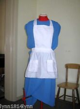 ALICE IN WONDERLAND SQUARE SHAPED COSTUME APRON WITH POCKETS M2O