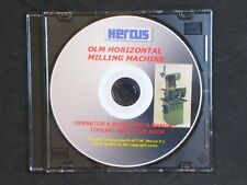 GENUINE HERCUS DVD FOR THE O AND OLM MILLING MACHINE- TOOLING ETC