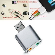USB to 3.5mm AUX Audio Adapter External Stereo 7.1 Channel Sound Adapter  Great