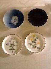 4 Vintage Mixed Teabag Rests Or Coaster - 2 Minton Bone China1 Royal Copenhagen