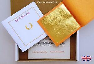 Gold Leaf Genuine Gold QTY 5 x 80mm x 80mm Sheets Arts Crafts Jewellry Decor