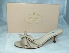 luxury PRADA Size 37 Backless Sandals Sandals Lacquer Shoes Shoes nude new