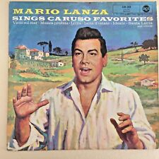 POP LP -Mario Lanza -SINGS CARUSO FAVORITES- RCA 1960 Orignal BLUE LABEL 12''