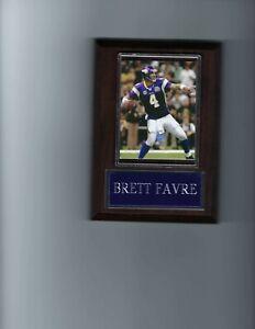 BRETT FAVRE PLAQUE MINNESOTA VIKINGS FOOTBALL NFL  GAME ACTION