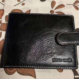 NEW PIERRE CARDIN MENS BI-FOLD WALLET  Leather BLACK