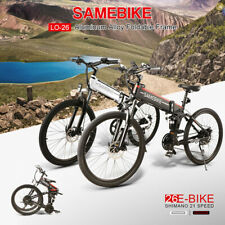 "26"" Folding Electric Bike 21Speed Power Assist E-Bike Suspension Fork 500W 10.4A"