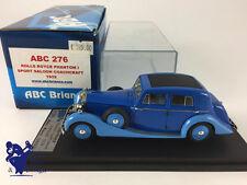 1/43 ABC 276 NO FYP  ROLLS ROYCE PHANTOM I SPORT SALOON COACHCRAFT 1929