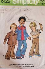 Vtg Simplicity pattern 6122 Boys Shirt, Jacket & Bell-Bottom Pants sz 4 chest 23