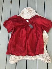 e418eed5c6f NWT Venezia Lane Bryant Plus Size 18 20 Boho Peasant Blouse Top Red
