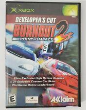Burnout 2: Point of Impact -- Developer's Cut (Microsoft Xbox, 2003) Complete