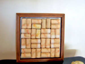 Australian Wine Cork Trivet Reclaimed Wood Used Cork Home Decor New Orleans