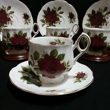Rosina English Roses Eight Piece Set - 4 Teacups 4 Saucers