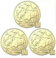2019 UNC, A, U, S Privy Mark $1 set One Dollar Discovery Australian Coins