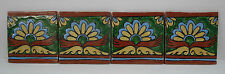 Decorated Mexican Tiles Set of 4