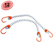 "12pc Bungee Cord 32"" inch Heavy Duty Straps 2 Hooks Tie Down Set"