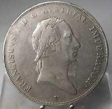 RRR!! 1 Scudo 1824 V, Franz I., Venedig, Silber .900