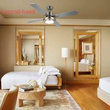 Secondhand 52' Ceiling Fan Light Brushed Nickel Finish with 15W Led & Remote Ul