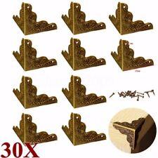 30x Antique Metal Jewelry Gift Box Corner Decor Feet Leg Protector Guard Bronze