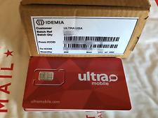Lot of 10 PreLoaded Ultra Mobile SIM + $39 Plan FEE INCLUDED ($18/SIM)