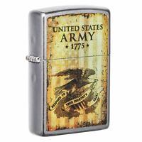 Zippo U.S. Army 1775 Street Chrome Pocket Lighter, 49315