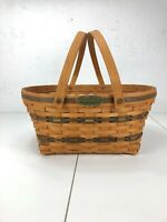 Longaberger 1996 Community Basket Green Accents Traditions Collection