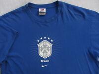 CBF Brasil Soccer Futbol Men's S/S Crew Neck T Shirt by Nike - Solid Blue - XL