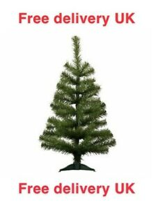 Christmas Tree Xmas Artificial Traditional Pine Mini Small With Stand 2ft (60cm)