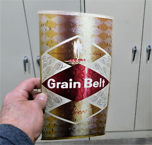 "GRAIN BELT ADVERTISING LARGE CARDBOARD CAN VINTAGE LOOKS LIKE A REAL ONE! 10""!"