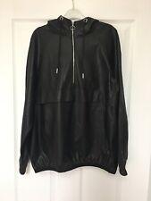 Zara Faux Leather Hoodie Jacket Size XS