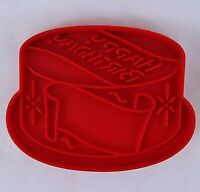 Tupperware Red Birthday Cake Cookie Cutter with Handle Vintage