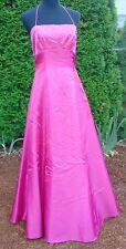 Zum Zum Niki Livas Hot Pink Sequin Embellished Halter Tie Ball Gown Size 7/8