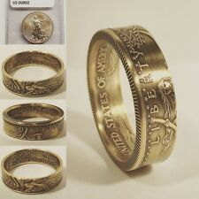 2017 American Gold Eagle Coin Ring - 1/2 oz 22K Gold