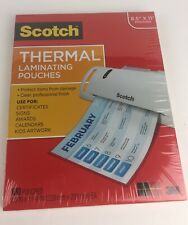 Scotch Thermal Laminating Pouches 85 X11 Letter Size 100pack Free Shipping