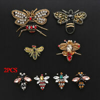 Embroidery Rhinestone Crystal Applique Bee Badge Sequin Patches Sew on Patch