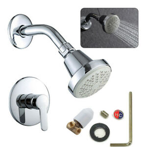 Single-Handle Spray Tub Shower Faucet With Chrome Valve Hot/Cold Control Handle