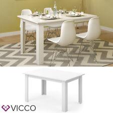 Vicco Esstisch Karlos 140cm weiß Esszimmertisch Wohnzimmer Küchentisch Tisch
