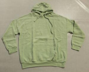 Soft Serve Clothing Women's Cloud Cotton Pullover Hoodie KT4 Mint Green Size XL
