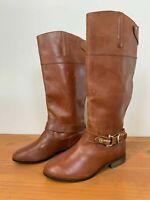 Dolce Vita Women's Genuine Leather Tan Buckle Boots Sz 7 ~ Free AU Post!