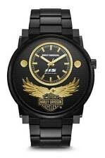 Bulova Harley Davidson Men's Black and Gold Anniversary Edition Watch 78A119