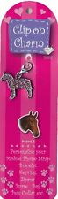 HORSE CHARM PINK CRYSTAL CLIP ON CHARM FOR BAGS PHONES JEWELLERY