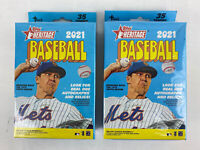 2021 Topps Heritage Baseball Hanger Box Lot Of 2 Boxes Factory Sealed 70 Cards