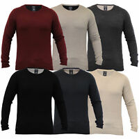 Mens Knitted Acrylic Jumper Pullover Top Winter Sweater By Kensington Eastside
