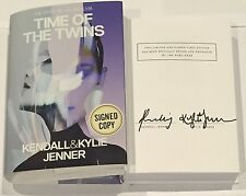 KENDALL KYLIE JENNER TIME OF THE TWINS HARDCOVER SIGNED BOOK KARDASHIAN SISTERS