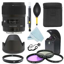 Sigma 35mm f/1.4 DG HSM Art Lens for Canon DSLR Cameras + Filter Kit + Accessory