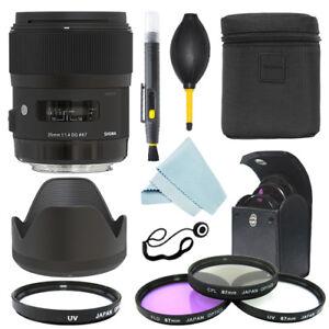 Sigma 35mm f/1.4 DG HSM Art Lens for Canon Cameras + Filter Kit + Accessory Kit