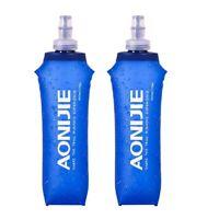 AONIJIE 2 Pack 500Ml TPU Soft Folding Water Bottles BPA-Free Collapsible FlaQ1C9