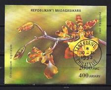 Fleurs - Orchidées Madagascar (160) bloc oblitéré