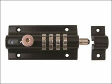 Squire Combi 2 Recodeable Combination Locking Sliding Bolt 125mm BLACK