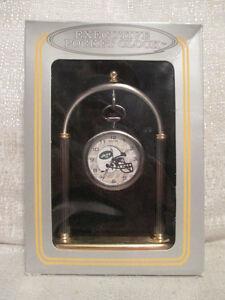 Sun Time New York Jets Executive Sports Pocket Watch Clock NFL Football
